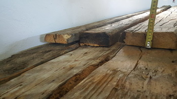 axe hewn plank