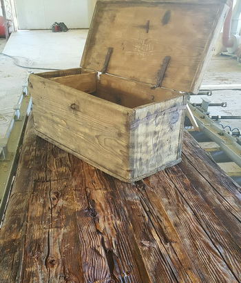 Old wooden chest/crate
