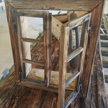 Framed window, complete