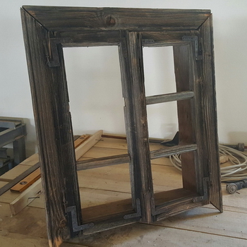 Framed window, incomplete